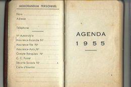 Petit Carnet 1955 Offert Par St  RAPHAEL_Quinquina Comprenant Calendrier De 1955 Entier Et Jusqu'a Juin 1956 - Calendriers