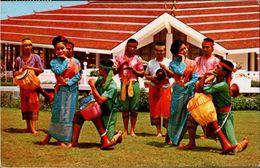 ! Moderne Ansichtskarte Thailand, Drum Dance, Trommeln, Folklore, Asien, Asia - Tailandia