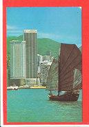 HONG KONG Cp Avec Voilier Hotel EXCELIOR - Chine (Hong Kong)