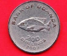 UGANDA - 2007 - Moneta Circolata - Pesce - 200 Shillings - Uganda