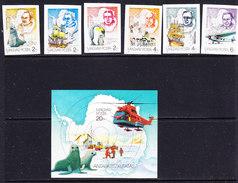 Hungary 1987 Antarctica 6v + M/s IMPERFORATED ** Mnh (ANT101) - Postzegels