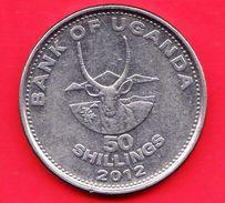UGANDA - 2012 - Moneta Circolata - Animali - 50 Shillings - Uganda