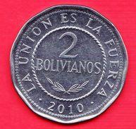 BOLIVIA - 2010 - Moneta Circolata - 2 Bolivianos - Bolivia