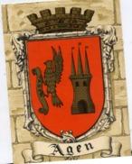 47 AGEN - Blason, Héraldique - CPSM N° 1319 M Barré-Dayez - 1954 - Agen