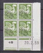 N° 113  Préoblitérés  Type Coq Gaulois: Coins Datés 20.2.59 - Coins Datés