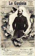 """Advertising - Newspaper,journaux - ,,Le Gaulois""""..edition - S.I.P.Paris.Postcard Via 1902.Paris/Geneve - Hommes"""