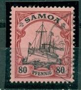 Schiffszeichnung, Kaiseryacht Hohenzollern Samoa  Nr. 15 Gestempelt - Kolonie: Samoa
