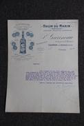 Lettre Ancienne - CAUDERAN, P.GARINEAU : RHUM DU MARIN - France