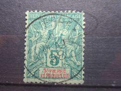 """VEND BEAU TIMBRE DE SAINT-PIERRE ET MIQUELON N° 62 , OBLITERATION """" ST-PIERRE """" !!! - Used Stamps"""