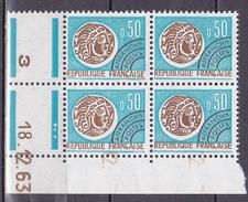 N° 128  Préoblitérés  Type Monnaie Gauloise: Coins Datés 18.12.63 - Prematasellados