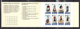 Yugoslavia 1986,8V In Booklet,costumes Nationaux,clothing,kleding,kleidung,vêtements,ropa,abbigliament,MNH/Postfris(C279 - Textiel
