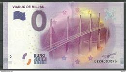 Billet Touristique 0 Euro  2016 Viaduc De MILLAU - EURO