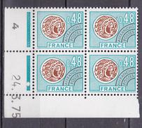 N° 135  Préoblitérés  Type Monnaie Gauloise: Coins Datés 24.3.75 - Vorausentwertungen