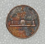 INAUGURATION Education Council LA PLATA 1890 Argentina Medal - Professionnels / De Société