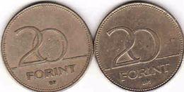 Hungary 2 X 20 Forint 1995, 2007 - Hungary