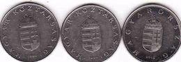 Hungary 3 X 10 Forint 1995, 2004, 2015 - Hongrie