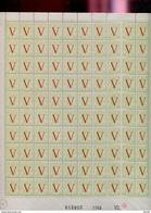 Belgie 1944 670/73 Liberation Heraldieke Leeuw Full Sheet Of 100 OCB++60€ + Luppi(roestvlekjes Zie Scans) - Hojas Completas