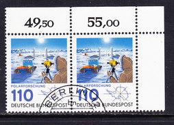 Germany 1981 Antarctica 1v  Pair, Used (corner)  (ANT108) - Postzegels