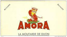 """Buvard """"AMORA"""" La Moutarde De Dijon - Potages & Sauces"""