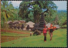 °°° 6757 - INDONESIA - BALI - PURA KEHEN - 1971 With Stamps Singapore °°° - Indonesia