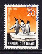 Haiti 1958 IGY / Penguins 1v Used (ANT114) - Zonder Classificatie