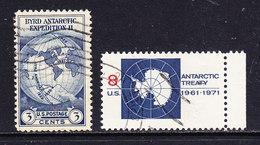 USA Antarctica 2v Used (ANT115) - Zonder Classificatie
