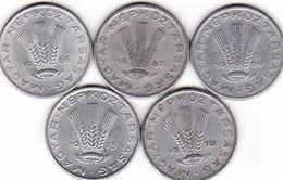 Hungary 5 X 20 Filler 1967, 1968, 1969, 1970, 1978 - Ungarn