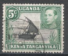 Kenya, Uganda & Tanzania 1938. Scott #67 (U) Dhow On Lake Victoria - Kenya, Uganda & Tanganyika