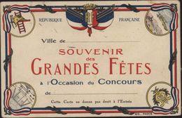 Carte Aux Drapeaux CPA République Française RF Souvenir Grandes Fêtes Concours Sport Musique Aviation Meeting  GG Paris - Autres