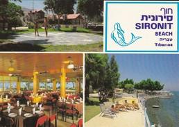 ISRAEL---RARE---TIBERIAS--sironit Beach--voir  2 Scans - Israël