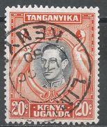 Kenya, Uganda & Tanzania 1942. Scott #74 (U) King George VI - Kenya, Uganda & Tanganyika