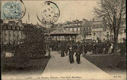 14 - CAEN - Musique Militaire - Kiosque - Caen