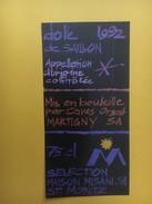 5180 -  Dôle De Saillon 1992 Réserve M Maison Misani St-Moritz Suisse - Etiquettes