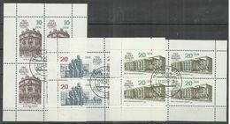 """DDR 3075,3077,3078 Kleinbogen.""""750 Jahre Berlin"""" Gefälligkeitsgestempelt Mi.-Preis 5,20 € - Blocs"""