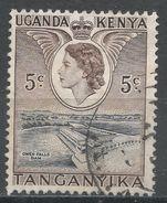 Kenya, Uganda & Tanzania 1954. Scott #103 (U) Owen Falls Dam - Kenya, Uganda & Tanganyika