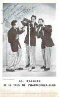 Autographe - Al. Raisner Et Le Trio De L'Harmonica Club, Photo Vandamme - Autographes