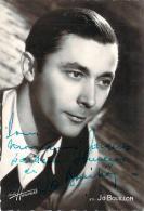 Autographe - Jo Bouillon, Photo Studio Harcourt - Autographes