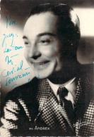 Autographe - Andrex, Photo Studio Harcourt - Autografi