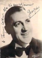 Autographe - Georgius, Photo Studio Harcourt - Autographes