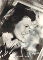 Autographe - Juliette Faber, Photo Studio Harcourt - Autographes