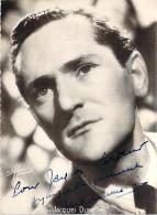 Autographe - Jacques Dumesnil, Photo Studio Harcourt - Autographes