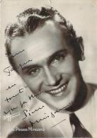 Autographe - Pierre Mingand, Photo Studio Harcourt - Autographes