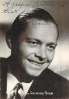 Autographe - Raymond Bour, Photo Studio Harcourt - Autographes