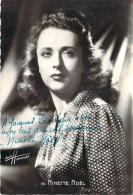 Autographe - Ninette Noël, Photo Studio Harcourt - Autographes