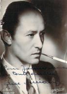 Autographe - Alec Siniavine Fumant Une Cigarette, Photo Studio Harcourt - Autographes