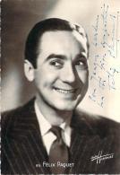 Autographe - Félix Paquet, Photo Studio Harcourt - Autographes