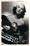 Autographe - Yolanda, Photo Studio Harcourt - Autographes