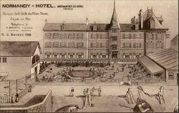 14 - ARROMANCHES - Normandy Hotel - Carte Pub - Dessin - Arromanches