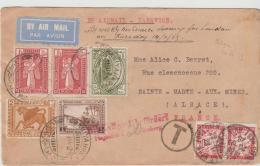 Mes024 / Irak, Per Leoniy Air Service 1929 Via London Und Nürnberg In Den Elsass (Nachporto) - Irak