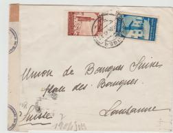 SPM010 / Span. Post Tanger 1943 Nach Lausanne Mit Deutscher Und Spanischer Zensur - Spaans-Marokko
